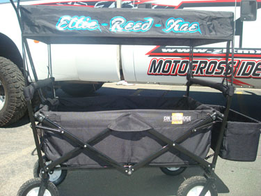 & Folding Wagon With Canopy Personalized (Black)